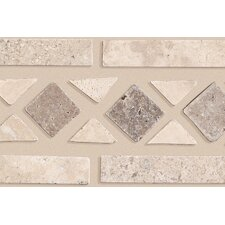 "Artistic Accent Statements 11-1/2"" x 2-1/2"" Diamond Decorative Border in Beige/Mocha"