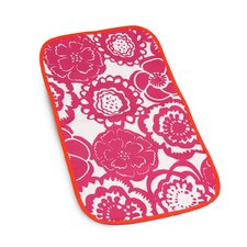 Changing Pad Memory Foam in Fuchsia Blossoms