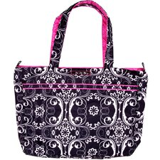Mighty Be Tote Diaper Bag in Shadow Waltz