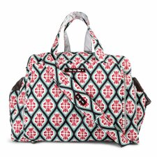 Be Prepared Messenger Diaper Bag in Dreamy Diamonds