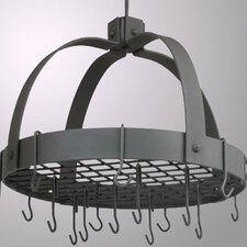 Dome Decor Pot Rack w/ Grid & Hooks