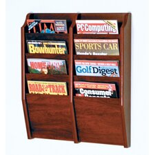 Eight Pocket Wall Mount Magazine Rack