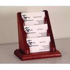 Three Pocket Counter Top Business Card Holder
