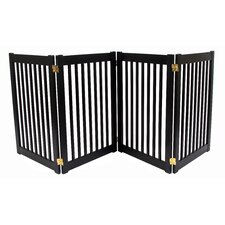 "Four 32"" Panel Free Standing Pet Gate in Black"