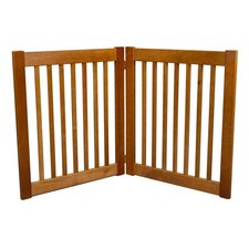 "Two 27"" Panel Free Standing EZ Pet Gate in Artisan Bronze"