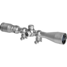 "3-9x40 Huntmaster Riflescope, Silver, 30/30, 5/8"" Rings"