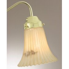 "5.25"" x 5.38"" Ceiling Fan Light Glass Shade in Cream"