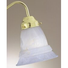 "4.63"" x 5.5"" Ceiling Fan Light Glass Shade in Light Steel Blue"