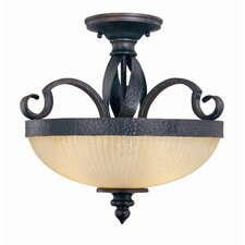 Carmel 3 Light Semi Flush Mount