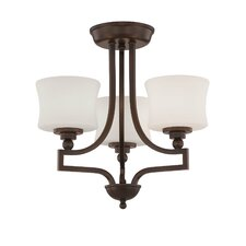 Terrell 3 Light Semi Flush Mount