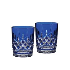 Lismore Cobalt Double Old Fashion Glass (Set of 2)