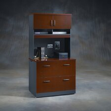 Via Lateral File Cabinet with Hutch