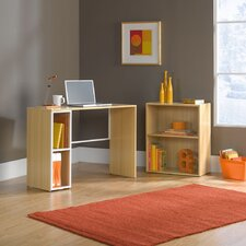 Treble Studio Edge Writing Desk with Bookcase