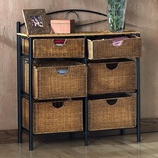 Royston 6 Drawer Wicker Storage Chest