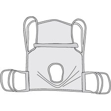 One Piece Commode Sling with Positioning Strap