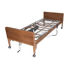 Ultra Light Semi Electric Bed in Brown
