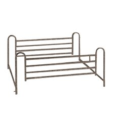 Full Length Hospital Bed Side Rail in Brown Vein