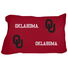 Oklahoma Sooners King Pillow Case Set