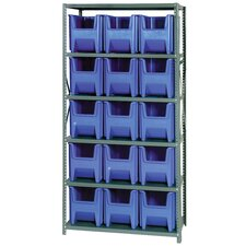 Giant Stack Container Shelf Storage Systems with Bins