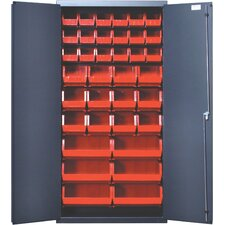 "36"" Wide Welded Storage Cabinet with 36 Ultra Bins"