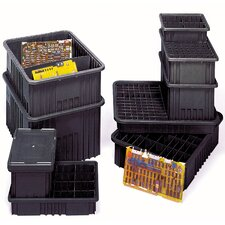 "Conductive Dividable Grid Storage Containers (3 1/2"" H x 8 1/4"" W x 10 7/8"" D)"