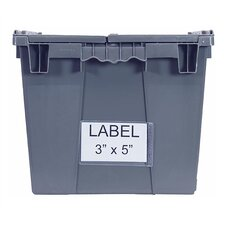 Attached Top Storage Container Clear Label Holder (Set of 24)