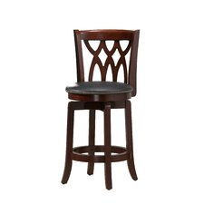 "Cathedral 24"" Counter Stool in Dark Cherry"