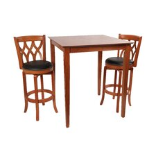 Cathedral 3 Piece Pub Set in Cherry