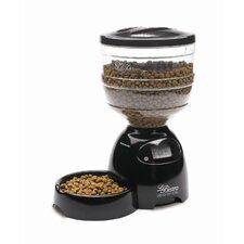Automatic Le Bistro Pet Feeder in Black - 10 Pound