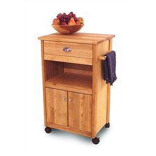 Modified Cuisine Kitchen Cart with Butcher Block Top