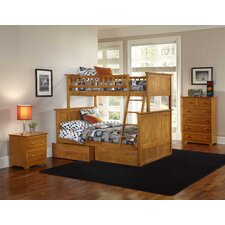 Nantucket Bunk Bed with Flat Panel Drawers