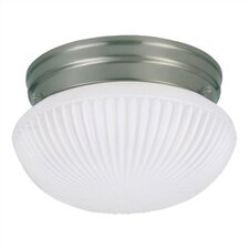 1 Light Fluorescent Flush Mount