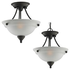Albany 2 Light Semi Flush Mount