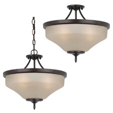 Montreal 3 Light Semi Flush Mount