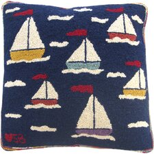 Sail Away Square Novelty Pillow