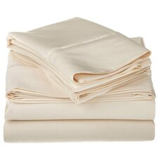 800 Thread Count Cotton Rich Solid Pillowcase Set