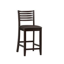 "Triena 24"" Ladder Counter Stool in Rich Espresso"