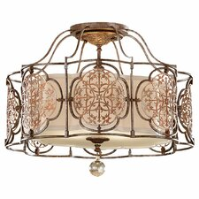Marcella 3 Light Semi Flush Mount