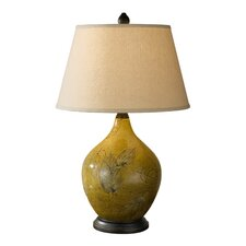 Hand Painted Porcelain 1 Light Table Lamp