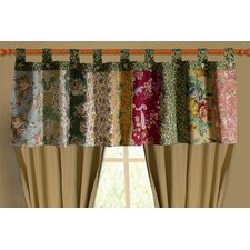 Antique Chic Cotton Tab Top Tailored Window Valance
