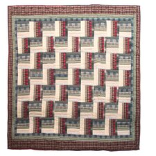 Stepping Stone Cotton Throw Quilt