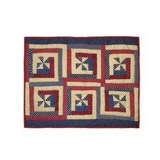 Midnight Log Cabin Pillow Sham