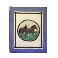 Horse Friends Cotton Crib Quilt