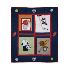 Play To Win Cotton Crib Quilt