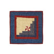 Midnight Log Cabin Cotton Toss Pillow