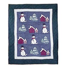 Snowman Cotton Throw