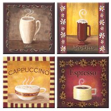 Tuftop Coffee Time Coasters (Set of 4)
