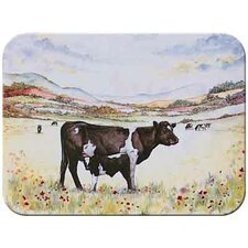 Tuftop Cow and Calf Cutting Board