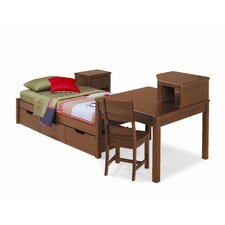 Dillon Corner Unit in Distressed Brown Cherry