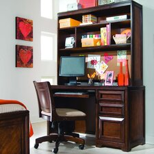 "Elite Expressions 50"" W Computer Desk with Keyboard Tray and Hutch"